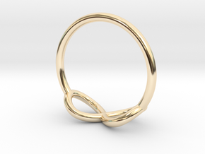 Ring Infinity in 14K Yellow Gold