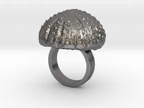 Urchin Statement Ring - US-Size 4 1/2 (15.27 mm) in Polished Nickel Steel