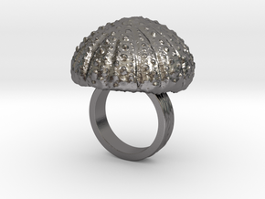 Urchin Statement Ring - US-Size 4 (14.86 mm) in Polished Nickel Steel