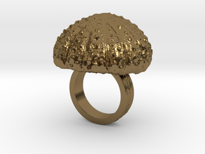 Urchin Statement Ring - US-Size 2 1/2 (13.61 mm) in Polished Bronze