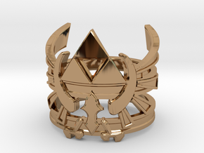 Triforce ring - Zelda - medium sizes (15 to 22) in Polished Brass