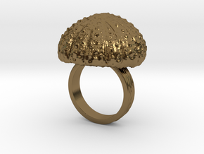 Urchin Statement Ring - US-Size 6 1/2 (16.92 mm) in Polished Bronze