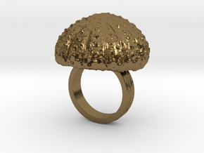 Urchin Statement Ring - US-Size 4 1/2 (15.27 mm) in Polished Bronze