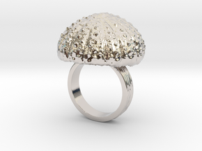 Urchin Statement Ring - US-Size 6 1/2 (16.92 mm) in Rhodium Plated Brass