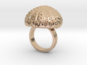 Urchin Statement Ring - US-Size 6 1/2 (16.92 mm) in 14k Rose Gold Plated Brass