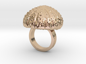 Urchin Statement Ring - US-Size 4 (14.86 mm) in 14k Rose Gold Plated Brass