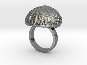 Urchin Statement Ring - US-Size 7 1/2 (17.75 mm) in Fine Detail Polished Silver
