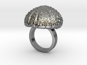 Urchin Statement Ring - US-Size 5 1/2 (16.10 mm) in Fine Detail Polished Silver
