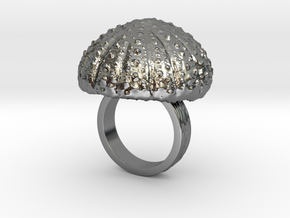 Urchin Statement Ring - US-Size 4 1/2 (15.27 mm) in Fine Detail Polished Silver