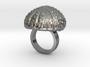 Urchin Statement Ring - US-Size 4 (14.86 mm) in Fine Detail Polished Silver