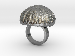 Urchin Statement Ring - US-Size 3 (14.05 mm) in Fine Detail Polished Silver