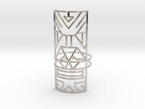 Giant Warrior ring Medium in Rhodium Plated Brass