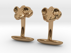 Mouse Cuff links  in Polished Brass
