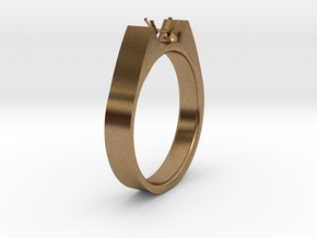 Design Ring For Diamond Ø19 Mm US Size 9 in Natural Brass