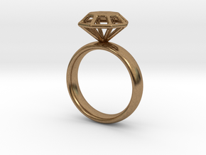Diamond Ring in Natural Brass: 6.25 / 52.125