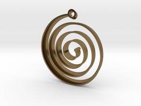 KORU earring in Polished Bronze