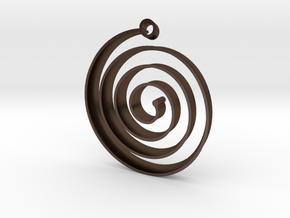 KORU earring in Polished Bronze Steel