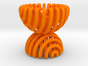 Sphericon Pair Egg Cup in Orange Processed Versatile Plastic