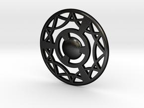 Pocket Coin in Matte Black Steel