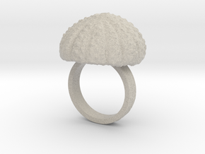 Urchin Statement Ring - US-Size 7 1/2 (17.75 mm) in Natural Sandstone