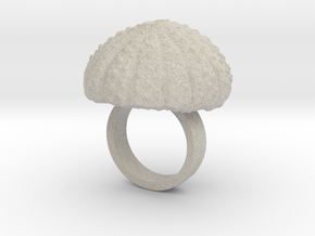 Urchin Statement Ring - US-Size 3 1/2 (14.45 mm) in Natural Sandstone