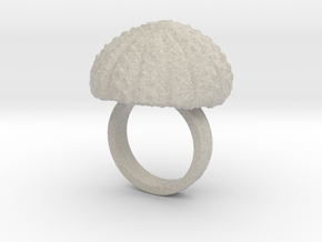 Urchin Statement Ring - US-Size 5 1/2 (16.10 mm) in Natural Sandstone