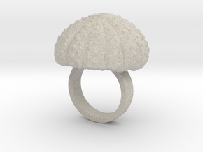 Urchin Statement Ring - US-Size 4 (14.86 mm) in Natural Sandstone