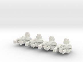 Pantsir S1 6mm Alternate Turrets Set of 4 in White Natural Versatile Plastic