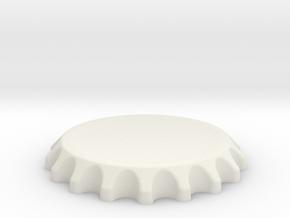Bottle Top Spin Station 3D Print in White Natural Versatile Plastic