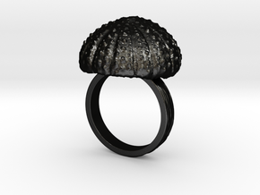 Urchin Statement Ring - US-Size 10 1/2 (20.20 mm) in Matte Black Steel