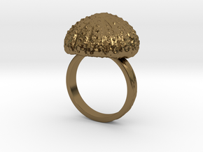 Urchin Statement Ring - US-Size 13 (22.33 mm) in Polished Bronze