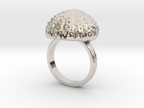 Urchin Statement Ring - US-Size 13 (22.33 mm) in Rhodium Plated Brass