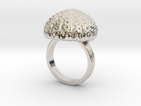 Urchin Statement Ring - US-Size 11 1/2 (21.08 mm) in Rhodium Plated Brass