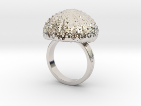 Urchin Statement Ring - US-Size 10 1/2 (20.20 mm) in Rhodium Plated Brass