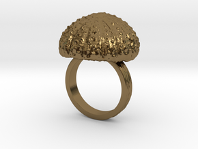 Urchin Statement Ring - US-Size 9 (18.89 mm) in Polished Bronze