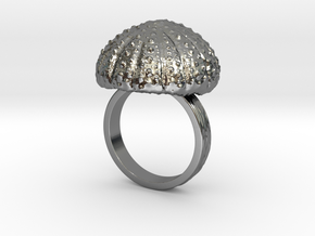 Urchin Statement Ring - US-Size 10 1/2 (20.20 mm) in Fine Detail Polished Silver
