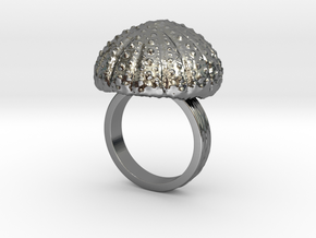 Urchin Statement Ring - US-Size 9 (18.89 mm) in Fine Detail Polished Silver