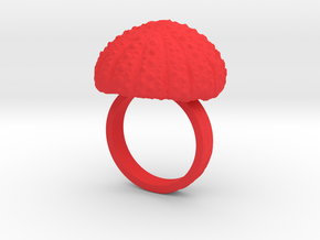 Urchin Statement Ring - US-Size 8 1/2 (18.53 mm) in Red Processed Versatile Plastic