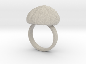 Urchin Statement Ring - US-Size 11 (20.68 mm) in Natural Sandstone