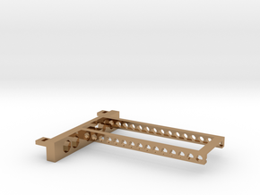 G751 M.2 Bracket With Holes 2 drives open top in Polished Brass