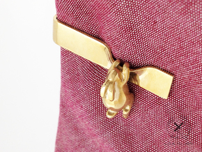 Nº07 Rabbit Tie Bar (Multiple Lengths) in Polished Brass