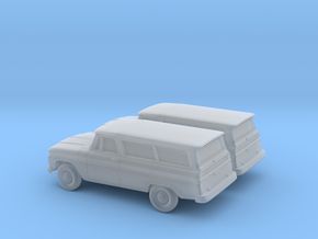 1/160 2X 1966 GMC Suburban in Frosted Ultra Detail