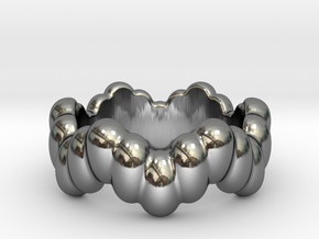 Biological Ring 16 - Italian Size 16 in Fine Detail Polished Silver