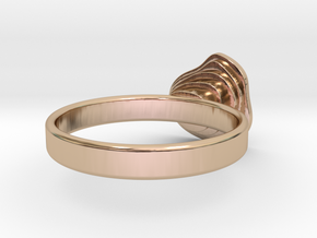 Gold Mine ring - UK N (inside diameter 17.2mm) in 14k Rose Gold Plated Brass