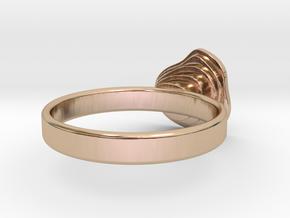 Gold Mine ring - UK N (inside diameter 17.2mm) in 14k Rose Gold Plated Brass