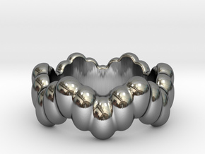 Biological Ring 21 - Italian Size 21 in Fine Detail Polished Silver