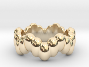 Biological Ring 22 - Italian Size 22 in 14k Gold Plated Brass