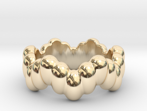 Biological Ring 29 - Italian Size 29 in 14k Gold Plated Brass