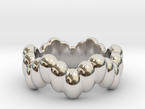 Biological Ring 32 - Italian Size 32 in Rhodium Plated Brass