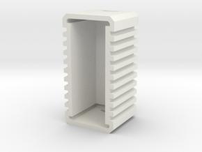 Scatter Box Wide in White Natural Versatile Plastic